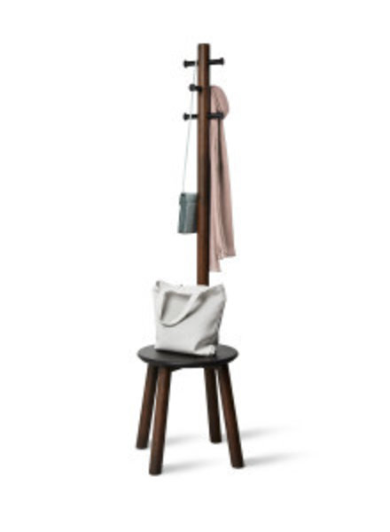 PILLAR STOOL WITH BUILT IN COAT RACK