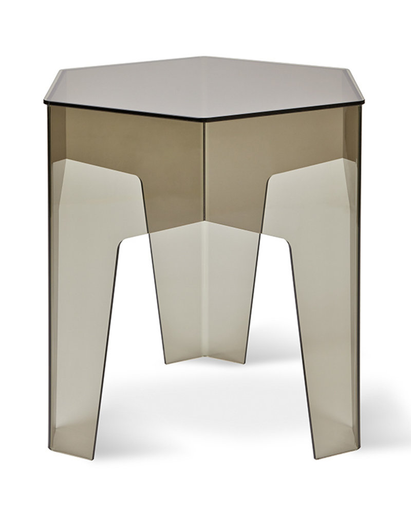 Hive End Table Smoke Acrylic