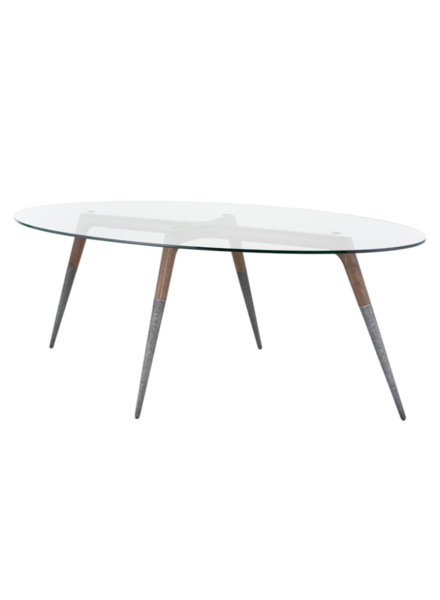 ASSEMBLY DINING TABLE CLEAR GLASS