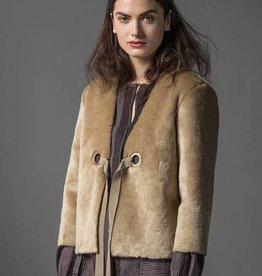 LEO & SAGE Faux Fur Jacket