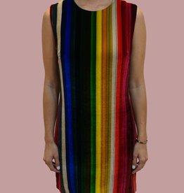 """MILLY """"Gina"""" Vertical Velvet Stripe Dress"""