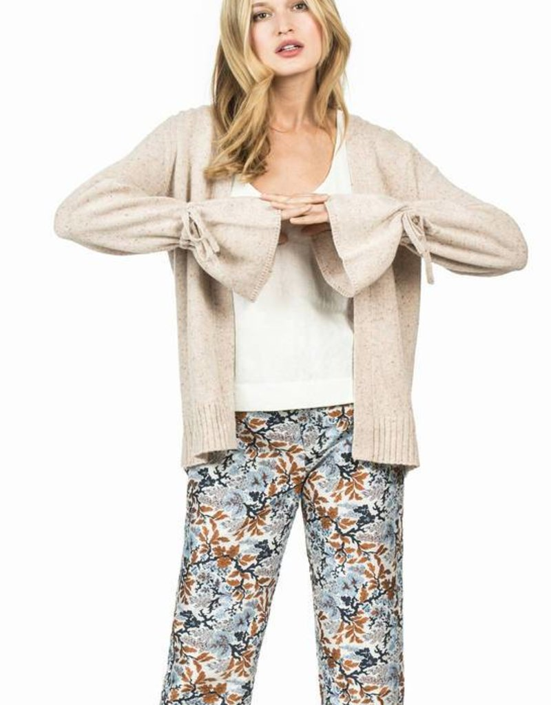 Leo and Sage Open Cardigan with Tie Sleeve