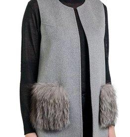 Love Token Sienna Vest with Fox Fur Pockets