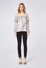 NICOLE MILLER Off The Shoulder Ruffle Blouse