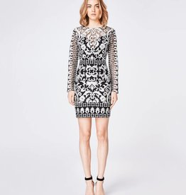 NICOLE MILLER Silver Illusion Dress