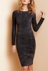 AS BY DF Mrs Smith Stretch Suede Dress