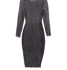 AS BY DF Mrs Smith Stretch Suede Dress