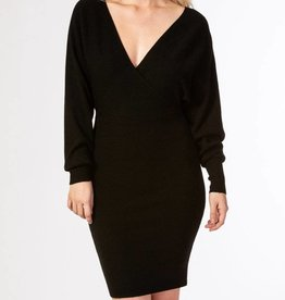 KERIMSA Dahlia Faux Wrap Knit Dress