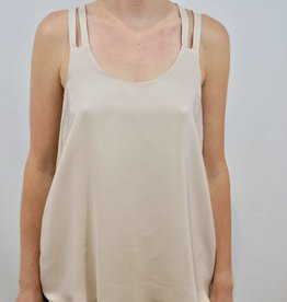 AMANDA UPRICHARD CAMDEN TANK PIPED STRAPS BLOUSE