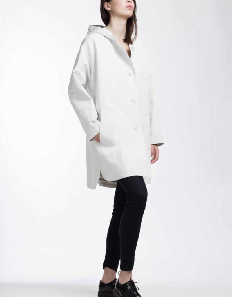 PRET POUR PARTIR MATILDA IRI LONG BUTTON FRONT HOODED JACKET