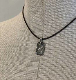 IN2DESIGN Diamonds Dog Tag on Leather