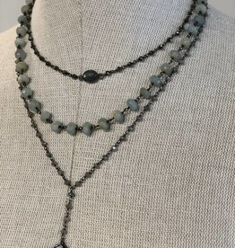 chan luu 18K Sterling silver adjustable necklace  with semi-precious stones