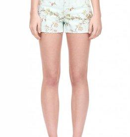 LA VIE Belle Floral Denim Shorts