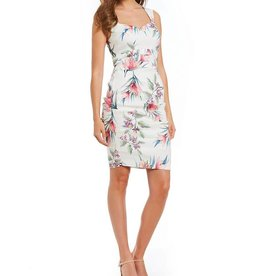NICOLE MILLER Tropical Print Sleeveless Dress