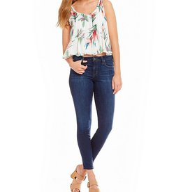NICOLE MILLER Sleeveless Tropical Print Blouse