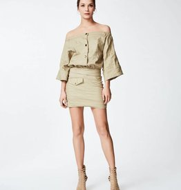NICOLE MILLER Safari Cotton Metal Dress