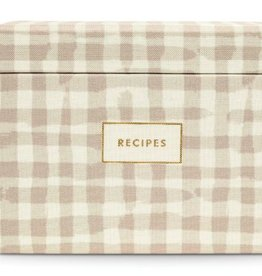 KATE SPADE Gingham Recipe Box