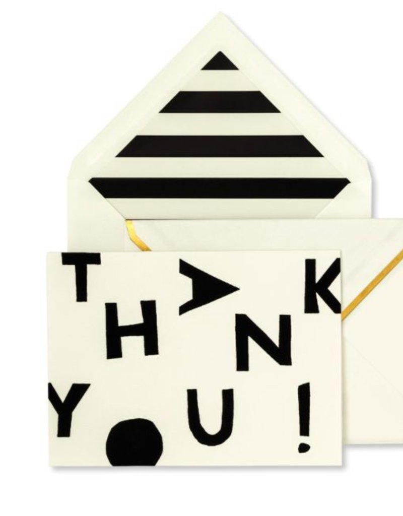 KATE SPADE Thank You Card Set - Tossed Letters
