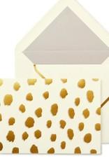 KATE SPADE Foldover Card Set - Gold Flamingo Dot