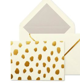 KATE SPADE Foldover Card Set - Gold Flamingo Dot