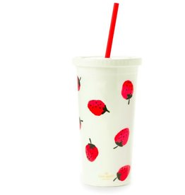 KATE SPADE Tumbler with Straw - Strawberries