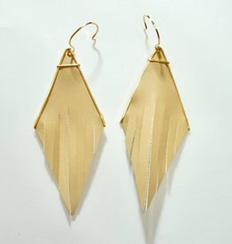 SARAH BRIGGS Element Collection Leather Rigg Earring