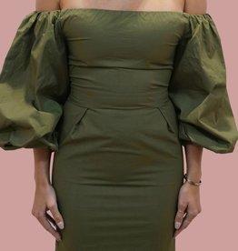 BLAQUE LABEL Poplin Sleeve Mini Dress
