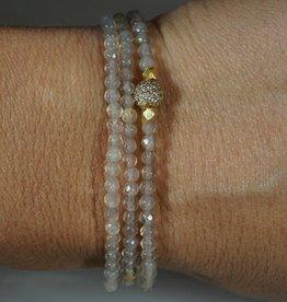 IN2DESIGN Triple Wrap Beaded Bracelet