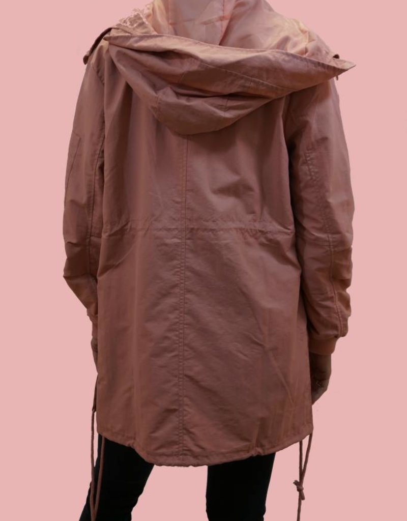 P. CILL Midi Water Proof Hooded Trench Jacket