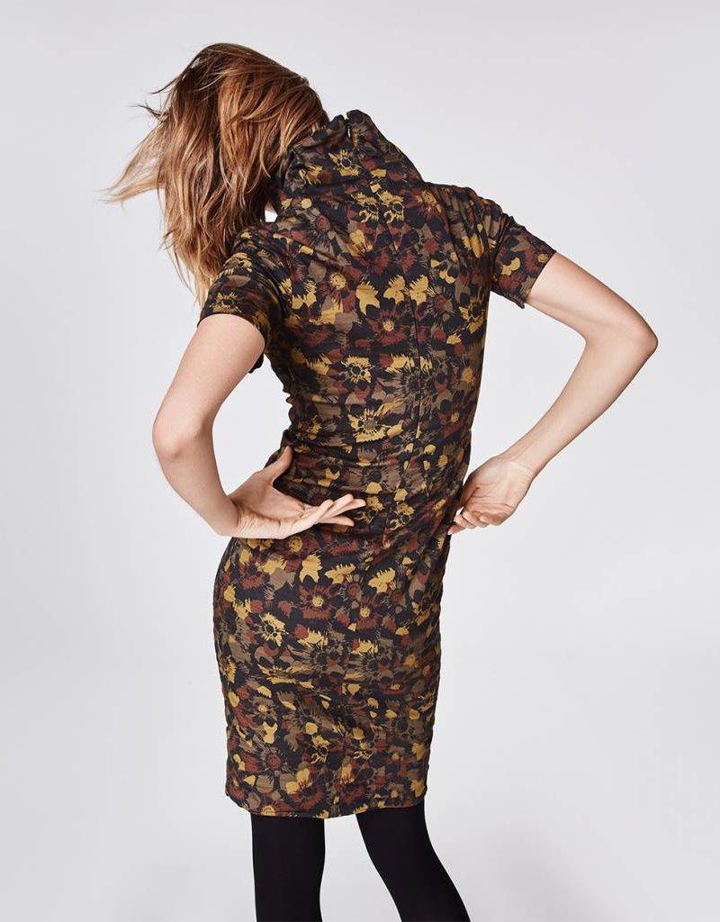 "NICOLE MILLER High Neck ""Flower Camo"" Dress"