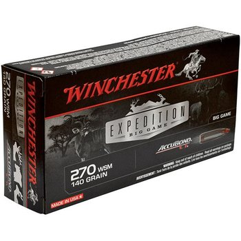 WINCHESTER Winchester Accubond .270 WSM 140 Grains Ammunition 20 Rounds CT
