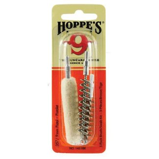 Hoppes Hoppes .38 /.357 and 9mm Handgun 3-Pack Brush and Swab Kit
