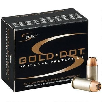 SPEER Speer Gold Dot Personal Protection .40 S&W 165 Grain Gold Dot Hollow Point 1150fps