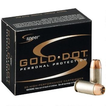 SPEER Speer 9mm Luger +P 124 Grain 20 Rounds Gold Dot HP