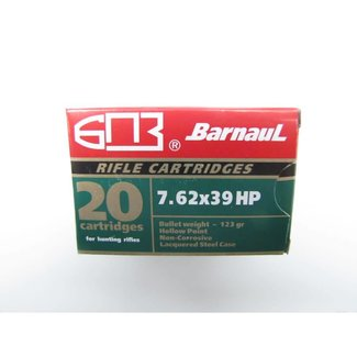 Barnaul Barnaul 7.62x39 123gr. HP Green, 20/box