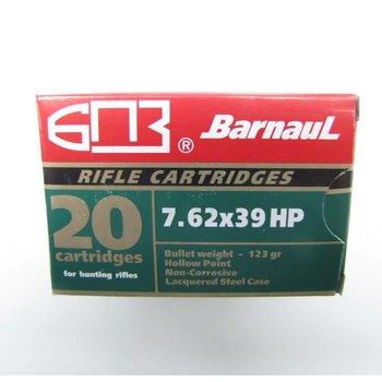Barnaul Barnaul 7.62x39 123gr. HP Green, 20 Rounds