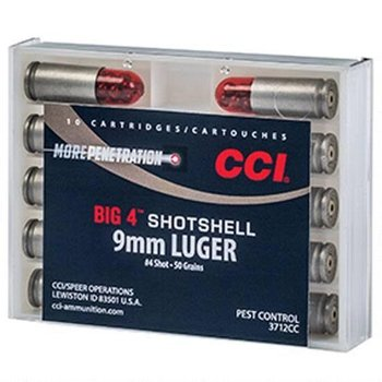 CCI CCI Big 4 Shotshell 9mm Luger #4 Lead Shot 10 Rounds