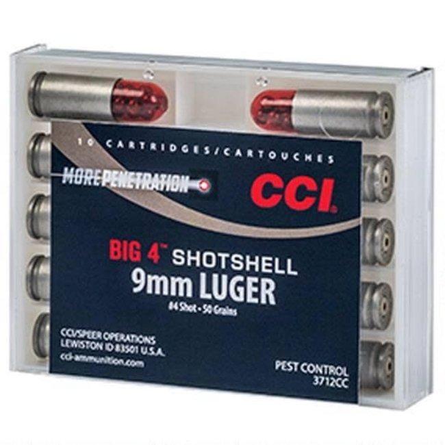 CCI Big 4 Shotshell 9mm Luger #4 Lead Shot 10 Rounds