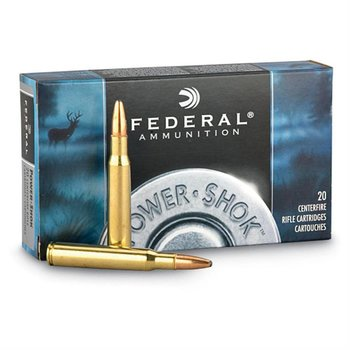 Federal Federal Power-Shok Rifle Ammo  SP,20rd/Box 308WIN 150Gr 2820