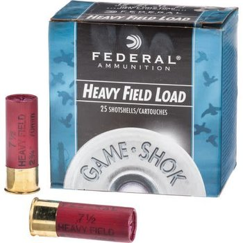 Federal Federal, Game Shok, 12 Gauge, 2.75″, 1 1/8 OZ, #4 Lead Shot (25 Rounds)