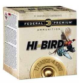 "Federal Federal Premium Hi-Bird 12GA. 2-3/4"" #4 1-1/4oz Lead Shot 1330fps 25 Rounds"