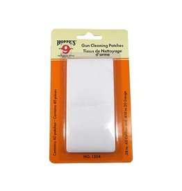 Hoppes Hoppe's Gun Cleaning Patches .38-.45 Caliber/.410 Bore-20 Gauge 40 Pack
