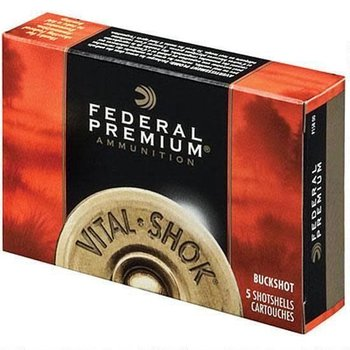 "Federal Federal Vital-Shok 12 Ga 3.5"" 00 Buck 18 Pellets 5 Rounds"