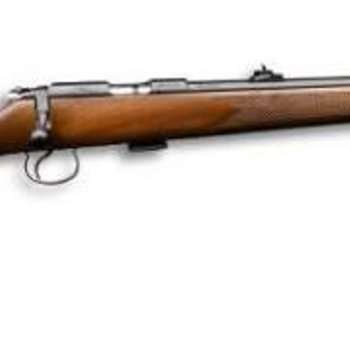 "CZ CZ 455 FS Rimfire Bolt Action Rifle - 22 LR, 20-1/2"", Cold Hammer Forged, Blued, Turkish Walnut Stock, 5rds, Adjustable Sights, Adjustable Trigger"