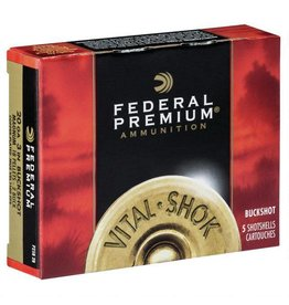 "Federal Federal Vital-Shok 20Ga 5rds 3"" #2 Copper Plated Buck Shot"