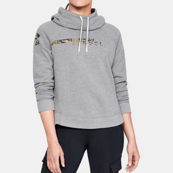 Under Armour Under Armour Women's Favorite Fleece Camo Logo Hoodie - Graphite Light Heather