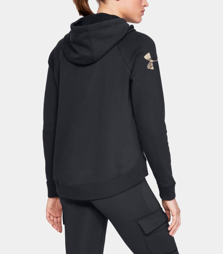9c76eb0f554 Under Armour Under Armour Women s Favorite Fleece Camo Logo Hoodie - Black
