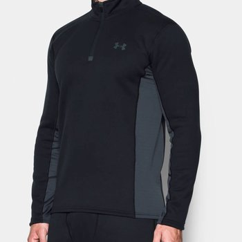 Under Armour Under Armour Men's Base Extreme ¼ Zip Long Sleeve Shirt - Black / Stealth Gray