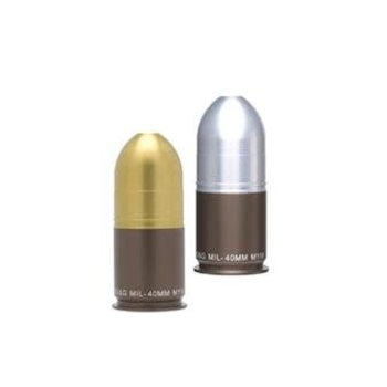 GG&G 40mm Grenade Salt & Pepper Shaker - Silver & Gold Mix