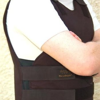 Marom Dolphin Ltd. Concealable Bulletproof Vest - protection level IIIA W/B - L Black